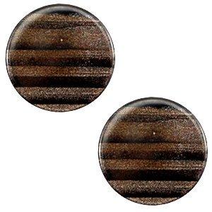 Bruin Polaris cabochon Sparkle dust Dark brown 7mm