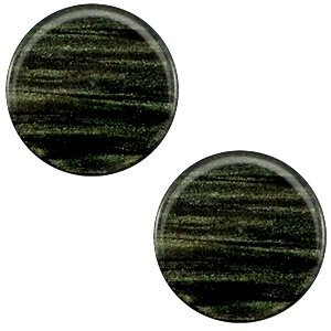 Groen Polaris cabochon Sparkle dust Dark classic green 7mm