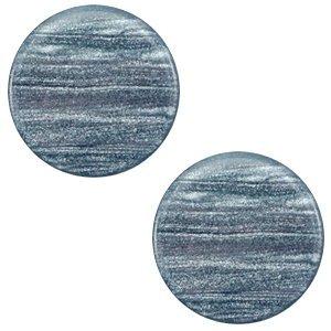 Blauw Polaris cabochon Sparkle dust Rustic blue 7mm