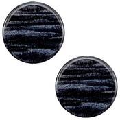 Blauw Polaris cabochon Sparkle dust Indigo blue 7mm