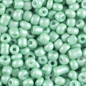 Groen Rocailles glas Metallic mint green 6/0 (4mm) - 20 gram