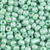 Groen Rocailles glas Metallic mint green 6/0 (4mm) - 20 gram