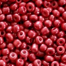 Rood Rocailles glas Dark rose red 6/0 (4mm) - 20 gram