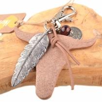 Bruin Bedel leerhanger buffel bruin DIY pakket