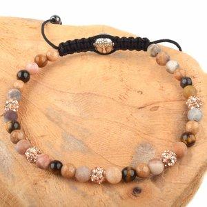 Bruin Strass & Stones armband DIY pakket