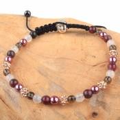Bruin Strass & Stones armband paars DIY pakket