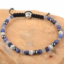 Blauw Strass & Stones armband blauw DIY pakket