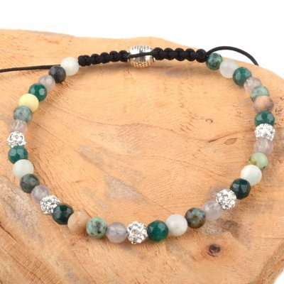 Groen Strass & Stones armband groen DIY pakket