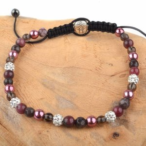 Paars Strass & Stones armband paars wit DIY pakket