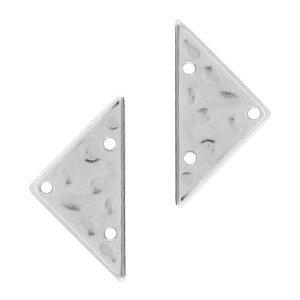 Zilver Tussenzetsel driehoek Zilver DQ 13x25mm