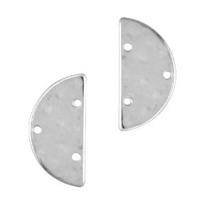 Zilver Tussenzetsel halve cirkel Zilver DQ 13x25mm
