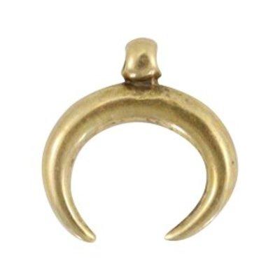 Antiek Goud Brons Bedel hoorn Brons DQ 32mm