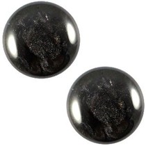 Zwart Cabochon polaris Jais Black 12mm