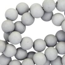Grijs Acryl kralen mat Medium grey 6mm - 50 stuks