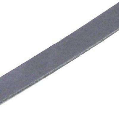 Grijs Plat leer DQ Cool grey 10x2mm - 90cm