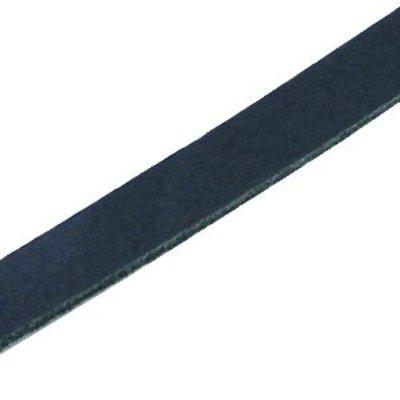 Blauw Plat leer DQ Dark navy blue 10x2mm - 90cm