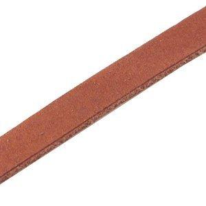 Bruin Plat leer DQ Dark cognac brown 10x2mm - 90cm