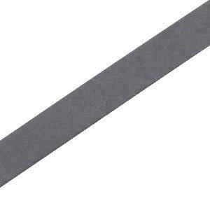 Grijs Plat leer DQ Dark grey 10x2mm - 90cm