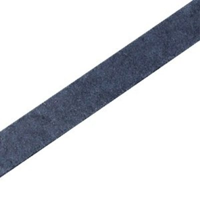 Blauw Plat leer DQ Dark denim blue 10x2mm - 90cm