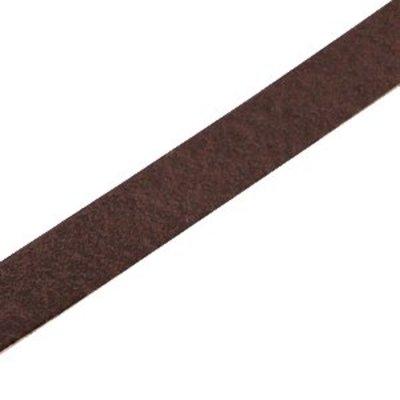 Bruin Plat leer DQ Dark brown 10x2mm - 90cm
