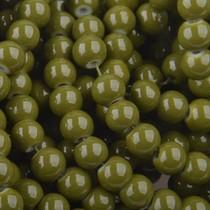 Groen Glaskralen rond olijf groen 6mm - 50 stuks