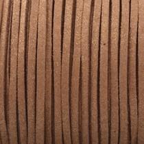 Bruin Imitatie suede metallic bruin 3x1,5mm - 2 meter