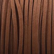 Bruin Imitatie suede cognac bruin 3x1,5mm - 3 meter