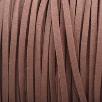 Bruin Imitatie suede licht chocolade bruin 3x1,5mm - 3 meter