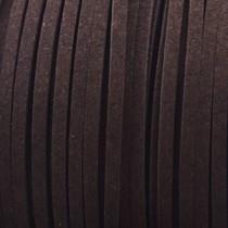 Bruin Imitatie suede donker bruin 3x1,5mm - 3 meter