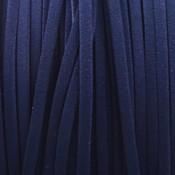 Blauw Imitatie suede donker blauw 3x1,5mm - 3 meter