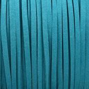 Blauw Imitatie suede aqua blauw 3x1,5mm - 3 meter