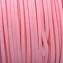 Roze Imitatie suede roze 3x1,5mm - 3 meter