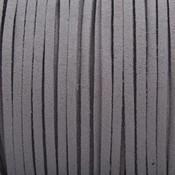 Grijs Imitatie suede warm grijs 3x1,5mm - 3 meter