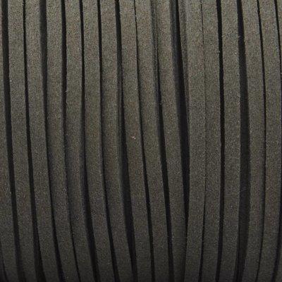 Grijs Imitatie suede army grey 3x1,5mm - 3 meter