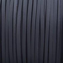 Grijs Imitatie suede leer donker grijs 3x1,5mm -2 meter