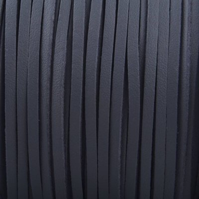 Grijs Imitatie suede leer donker grijs 3x1,5mm - 2 meter