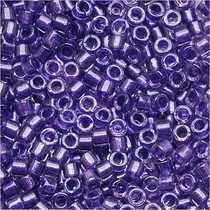Paars Miyuki Delica Sparkle Purple Lined Crystal  11/0 - 4gr
