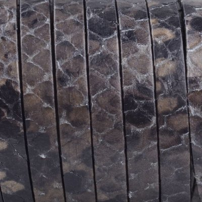 Bruin Plat nappa Leer Bruin grijs zwart Python 5x1.5mm - prijs per cm