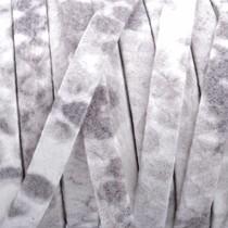 Wit Plat nappa Leer Wit greige Python 5x1.5mm - prijs per cm