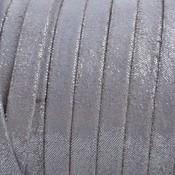 Grijs Plat nappa Leer Grijs zilveren spikkels 5x1.5mm - prijs per cm
