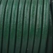 Groen Leer rond groen 3mm - per meter