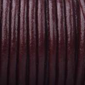 Bruin Leer rond port brown 3mm - per meter