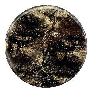 Zwart Platte cabochon polaris Stardust Jet black 35mm