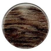 Bruin Platte cabochon polaris Sparkle dust Dark brown 35mm