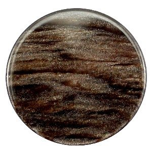Bruin Platte cabochon polaris Sparkle dust Dark brown 35mm