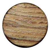 Bruin Platte cabochon polaris Sparkle dust Smoke topaz 35mm