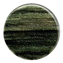 Groen Platte cabochon polaris Sparkle dust Dark classic green 35mm