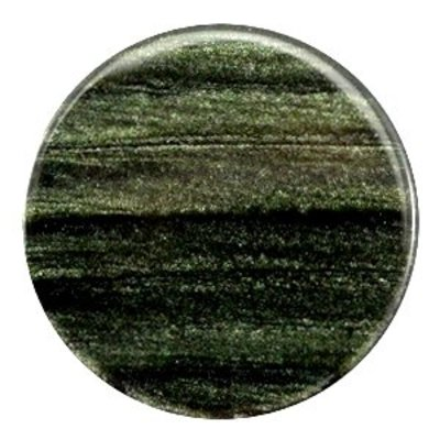 Groen Platte cabochon polaris Sparkle dust Dark classic green 35mm