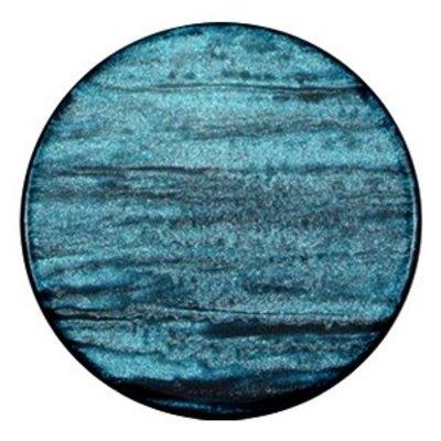 Blauw Platte cabochon polaris Sparkle dust Blue zircon 35mm