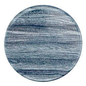 Blauw Platte cabochon polaris Sparkle dust Rustic blue 35mm